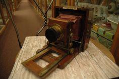 1891 J Lancaster & Son Birmingham Antique Wooden Camera Photography Rustic Farmhouse Industrial Decor Ambient Atelier Antique Dealer by AmbientAtelier on Etsy