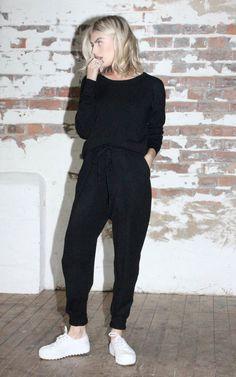 Knit Jumpsuit Black - SilkFred
