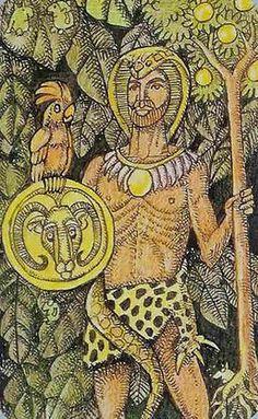 King of Pentacles from the Jolanda Tarot
