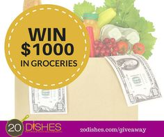 Win $1000 in Groceries Enter Sweepstakes, Free Groceries, Just In Case, Giveaway, Cooking Recipes, Blog, Pageants, Cooker Recipes, Chef Recipes