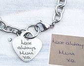 Custom Handwriting Necklace with the Writing or by shopSHINElife