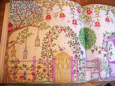 Page 1 View From The Secret Garden Book By Johanna Basford Gazebo Colored
