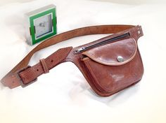 Vintage Leather Hip Bag Purse  leather belt bag by TheWhitePelican