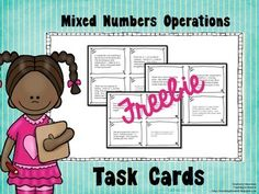 12 Word Problem Task Cards focusing on mixed numbers! Math Classroom, Future Classroom, Math School, Math Task Cards, Fourth Grade Math, Math Intervention, Math Word Problems, Math Words, Guided Math