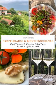 To experience a traditional Austrian Buschenschank, Gamlitz in southern Austria is the place to start. Here are three cozy buschenschank wine taverns to visit and stay in #SouthStyria #Austria.  #brettlejause  #buschenschank #gamlitz