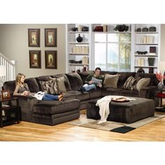 Furniture of America Rotterdam Sectional Sofa Couch Warm Grey
