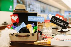 Free Printable Photo Booth Props :: Microsoft Surface 2 Launch Party the tomkatstudio