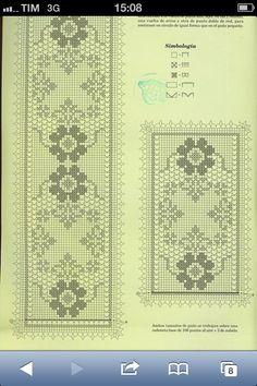 Filet Crochet Charts, Rugs, Home Decor, Farmhouse Rugs, Decoration Home, Room Decor, Home Interior Design, Rug, Home Decoration