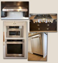 Kitchen Aid Professional Cook Top With Face Front Knobs With Upgraded Vent  Hood In A Stainless Finish. Also Showcased Is An Upgraded Kitchen Aid  Built In ...