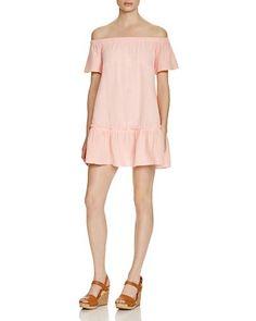Rebecca Taylor Gauze Off-The-Shoulder Dress | Bloomingdale's