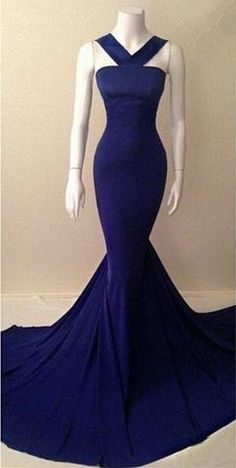 Mermaid Prom Gown,Royal Blue Evening Gowns,Party Dresses,Mermaid Evening Gowns,Sexy Formal Dress For Teens PD20181610