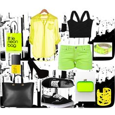 FLURO CRAZY, created by mhapi on Polyvore