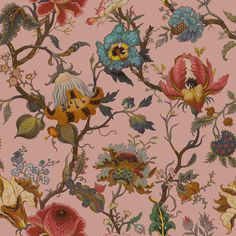 <p>Think pink for SS16. This premium HOUSE OF HACKNEY X WILLIAM MORRIS wallpaper has been given a fresh update for the new season and features a prett...