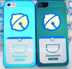 2013 Explosion models Lovely Doraemon Couple Case phone case for iPhone 5 5S with Free shipping $8.90