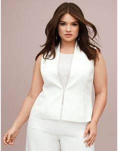 Plus Size Lane Collection Sleeveless Jacket | Lane Bryant