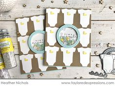 taylored expressions - small miracle shaker card (pine is here. Card Tags, I Card, Heather Nichols, Tiny Miracles, Welcome Baby Boys, Interactive Cards, Mft Stamps, Shaker Cards, Pretty Cards