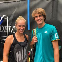 Two of Germany's best, Sabine Lisicki and Alexander Zverev, catching up on campus today. #IMGFam - From IMG Academy - August 2016