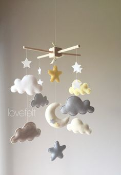 baby mobile cloud mobile clouds and stars mobile neutral