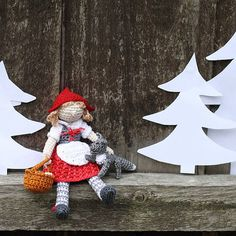 Little Red Riding Hood crochet doll. Collectable by FancyKnittles, £30.00