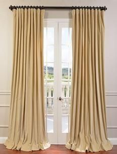order fabric samples for color........British Tan Doublewide Vintage Cotton Velvet Curtain
