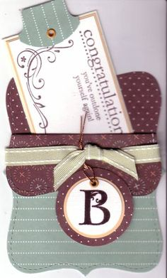 Top Note die gift card holder - Lovely Letters