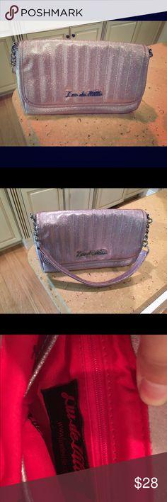 "Lux De Ville Purse Like new. Pink, sparkle, silver accents, no stains or marks. Short shoulder strap. Purse is about 12"" Lux De Ville  Bags Shoulder Bags"