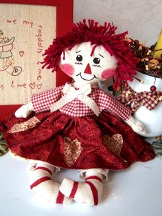 primitive rag doll patterns free | ... quite the size I wanted, I made another one using a bigger pattern