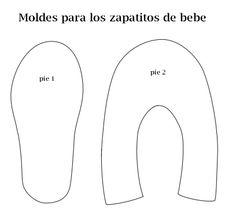 Hoy te contamos acerca de: Cómo hacer Zapatitos Bebé Baby Shoes Pattern, Baby Dress Patterns, Doll Clothes Patterns, Baby Doll Shoes, Felt Baby Shoes, Baby Sewing Projects, Sewing For Kids, Baby Sandals, Baby Booties