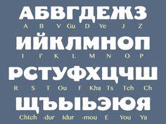 Alphabet russe cyrillique