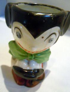 Vintage Mickey Mouse egg cup Disneyana - looks fiendish!
