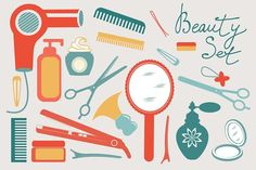 Beauty set Graphics Hello and welcome to my shop! Here is my Beauty set for your creative ideas! You will get: 1 EPS10 by Olillia
