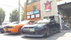 This beast rolls into our shop. Vancouver, Collision Repair, Gtr R35, Nissan Skyline, Body, Beast, Rolls, Car, Shop