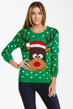 Love by Design Reindeer Sweater (Juniors) by Love by Design on @nordstrom_rack