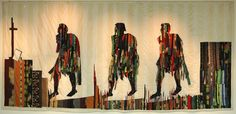 Abdoulaye Konaté, Les Marcheurs (The Walkers), 2006 | Image courtesy of Iniva and the artist © Jean François Cholley