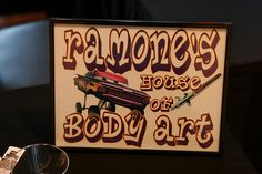 poster for the tattoo area-inspired by Ramone