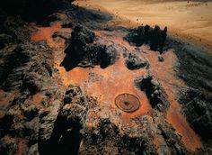 Enclosed neolithic tomb, South of Djanet, Tassili n'Ajjer, Algeria