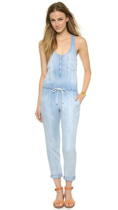 There has never been a denim jumpsuit I didn't love.  Bella Dahl Racer Back Jumpsuit | Chasing Life