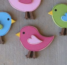 I love the simple bird shape....I may try to create but if not, there's always etsy! Wall decor birdie bird wood bed room girl pink heart sweet baby nursery your choice of colors 4.50 etsy classroom spring art infant flowers bees bugs sunshine