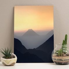 placa sunset mountain 20x29