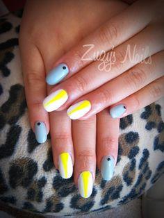 Zuzy's Nails: Más hermosos diseños de uñas Acrylic nails, nail art, nail polish, uñas decoradas, arte en uñas, uñas bellas, manicure, diseño con esmaltes, oval nails