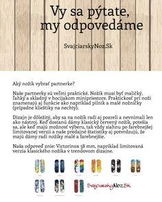 Aky nôž vybrať partnerke? #svajciarsky_noz #Victorinox #vreckove_noze #vreckove_noze_Victorinox http://www.svajciarskynoz.sk/otazky/
