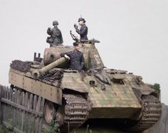 """""""To hell and back"""" Wiking-Panther. Made by Markus Eriksson. Model Tanks, Armored Fighting Vehicle, Military Modelling, Ww2 Tanks, Military Diorama, Nightmare On Elm Street, Model Kits, World War Two, Scale Models"""