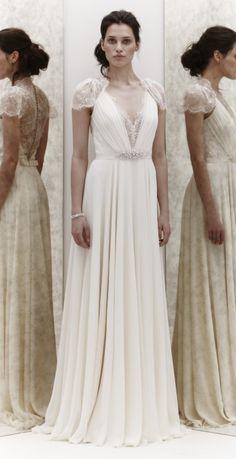 Robe de mariée style Jenny Pacham d'occasion