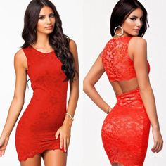 Sleeveless Lace Club Dress in black or red  Item No. : Black - DP20019-2; Red - DP20019-3  Price : $34.99 (Was $44.99!)  Size S/M only available.   To order today, please email us at DiePrettyClothing@gmail.com     We look forward to hearing from you!   ~ Die Pretty Clothing Co. www.facebook.com/DiePrettyClothing