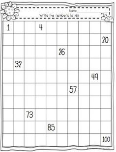 Spring Into Counting to 100 freebie worksheet!