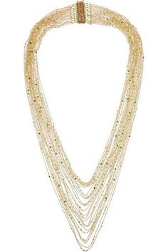Iliade gold-dipped agate necklace #necklace #women #covetme #rosantica