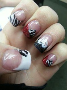 Fun valentines nails