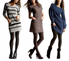 Sweater Dress with Short Boots