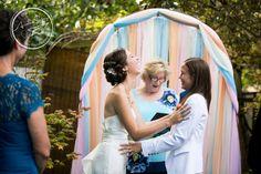Seattle wedding photography   Amelia Soper Wedding Photographer, backyard, couple, brides, same sex, lesbian wedding, LGBT, ceremony