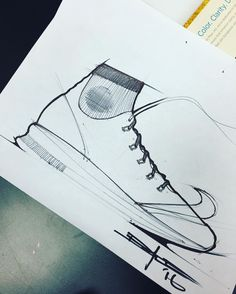 // Quick doodle; needs some major adjustments and lacks a few key details but liking the direction so far... ___________________________________ #design #footweardesign #nike #swoosh #footweardesign by _daleshepard